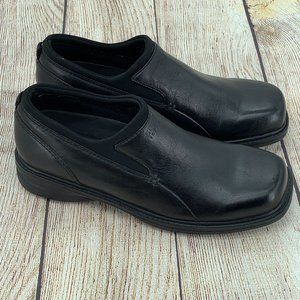 Sperry Top Sider Black Leather Slip On Loafers